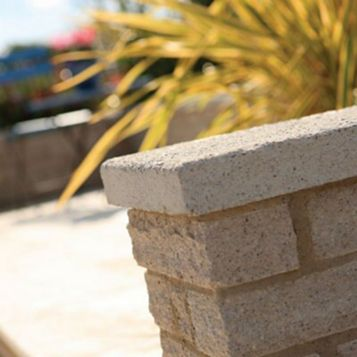 Pitched Buff Walling Stone, (L)290mm (W)136mm (T)90mm