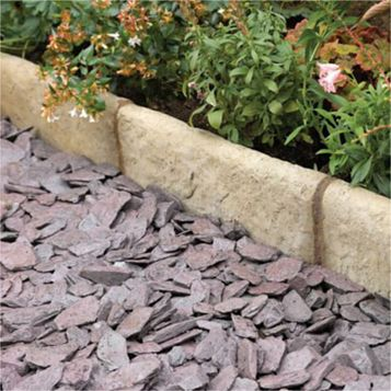 Traditional Old Town Paving Edging Grey/ Green, (L)450mm (H)200mm (T)50mm, Pack of 37