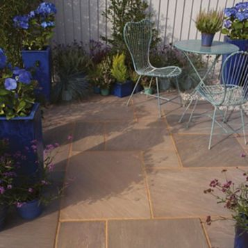Bradstone Traditional Natural Sandstone Patio Pack, 18.15 m²