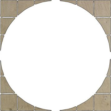 Bradstone Reconstituted Stone Paving Circle Squaring Off Pack, 3.44 m²