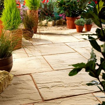 Bradstone Reconstituted Stone Mixed Size Paving Pack, 5.67 m²