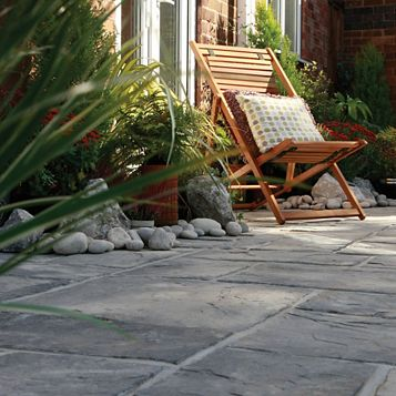 Ancestry Reconstituted Stone Mixed Size Paving Pack, 6.40 m² (T)35mm