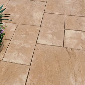 Bradstone Reconstituted Stone Mixed Size Paving Pack, 5.25 m²