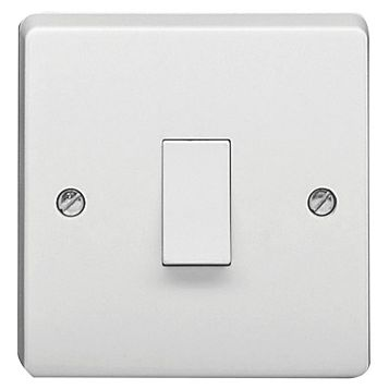 Crabtree 20A 1-Way Single White Control Switch