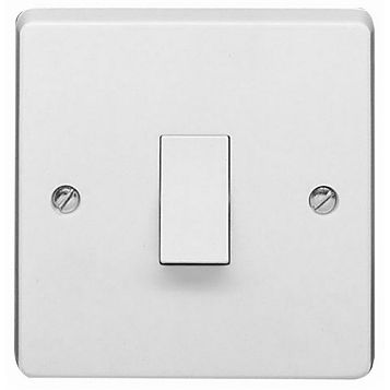 Crabtree 10AX Single White Intermediate Switch