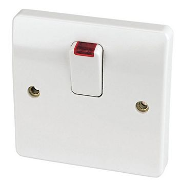 MK 1-Gang 20A White Switch