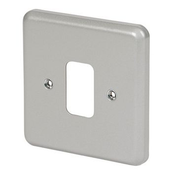 MK 1-Gang Grey Cover Plate
