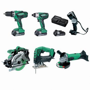 Hitachi 18V 6 Piece Power Tool Kit KTL618SJ/JF