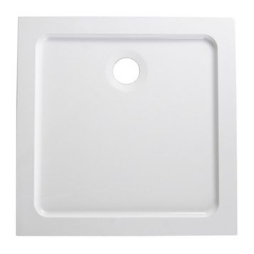 B&Q Low Profile Square Shower Tray (L)760mm (W)760mm (D)40mm