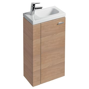 Ideal Standard Imagine Compact Oak Effect Vanity Unit, LH Basin & Mixer Pack