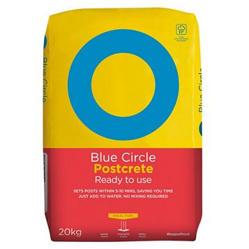 Blue Circle Ready to Use Postcrete Concrete Grey 20 kg Bag