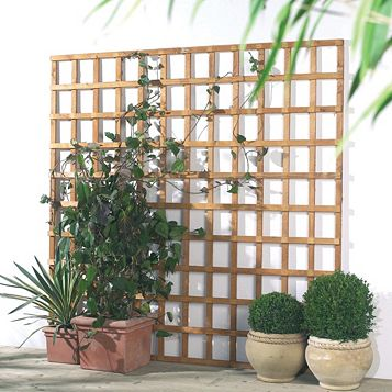 Grange Traditional 1.83 M x 320 mm Trellis Panel, Softwood