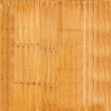 Feather Edge Fence Panel (W)1.83m (H)1.5m0