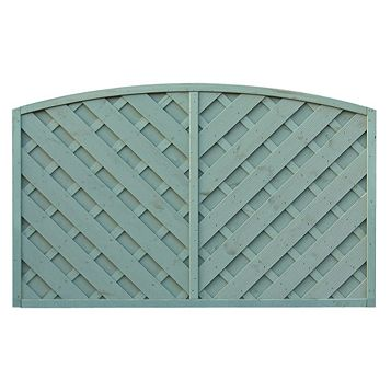 St Lunair Arched Fence Panel (W)1.8m (H)1.2m, Pack of 3