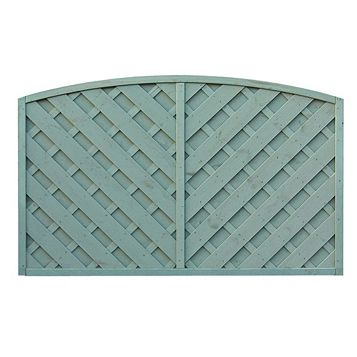 St Lunair Arched Fence Panel (W)1.8m (H)1.2m, Pack of 5