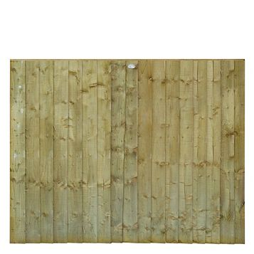 Grange Professional Feather Edge Overlap Fence Panel (W)1.83 M (H)1.5 M, Pack of 3