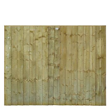 Grange Professional Feather Edge Overlap Fence Panel (W)1.83 M (H)1.5 M, Pack of 5