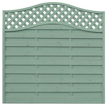 Woodbury Lattice Top Fence Panel (W)1.8m (H)1.8m, Pack of 4