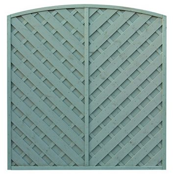 St Lunair Arched Fence Panel (W)1.8m (H)1.8m, Pack of 3