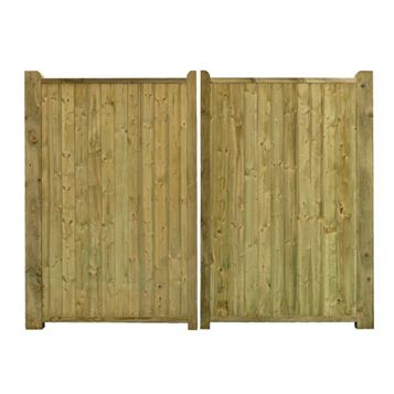 Grange Planed Timber Driveway Gate (H)1800mm (W)2700mm