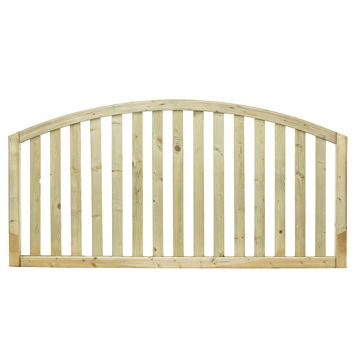 Gawsworth Domed Top Planed Vertical Timber Border Fencing (W)1800mm (H)900mm, Pack of 4