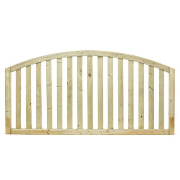 Gawsworth Domed Top Planed Vertical Timber Border Fencing (W)1800mm (H)900mm, Pack of 5
