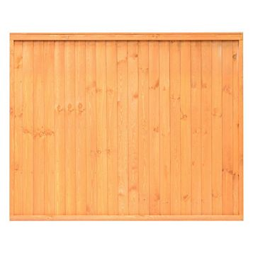 Close Board Traditional Fine Sawn Vertical Slats Fence Panel (W)1830mm (H)1800mm, Pack of 3