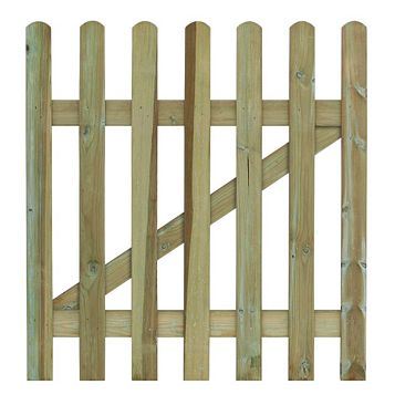 Grange Wooden Palisade Round Top Gate (H)900mm (W)900mm