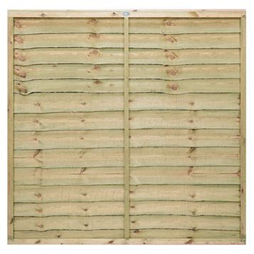 Pro Timber Overlap Fence Panel (W)1.83m (H)1.8m, Pack of 4