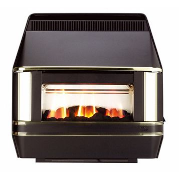Valor Black Heartbeat Gas Fire