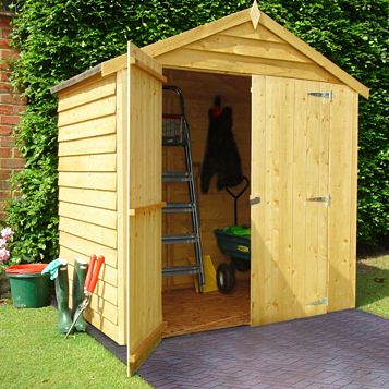 4X6 Apex Overlap Wooden Shed - Assembly Required