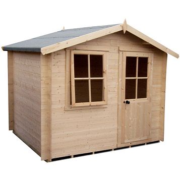 Hartley 7X7 19mm Tongue & Groove Timber Log Cabin - Assembly Required