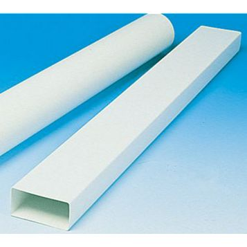 Manrose White Rectangular Pipe (H)110mm