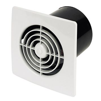 Manrose Low Profile Lp100St Extractor Fan with Timer 100 mm