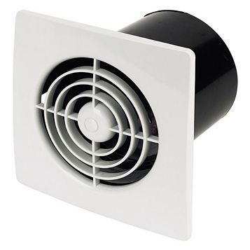 Manrose Lp100Ss In-Line Bathroom Extractor Fan 100 mm