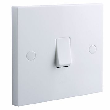 British General 1-Gang 2-Way 10AX White Switch