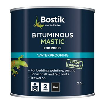 Bostik Waterproofing Bituminous Mastic, 2.5L