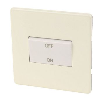 Varilight 1-Gang 10A Cream Fan Isolator Switch