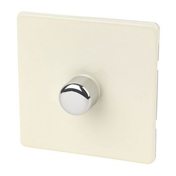 Varilight 1-Gang 2-Way Cream Push LED Dimmer Switch