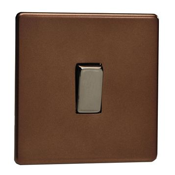Varilight 10A 2-Way Single Mocha Single Light Switch