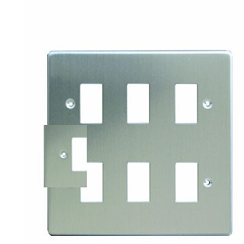 Varilight 6-Gang Steel Cover Plate