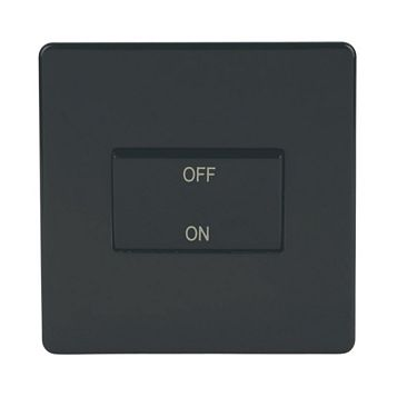 Varilight 1-Gang 10A Black Fan Isolator Switch