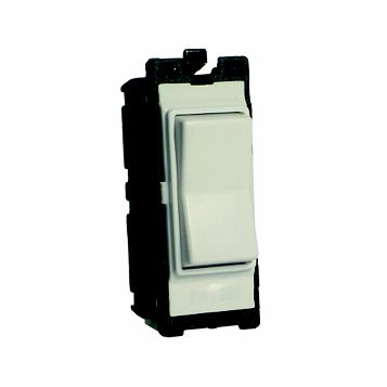 Varilight 1-Gang 2-Way 10A White Retractive Switch