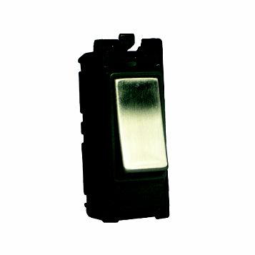 Varilight 1-Gang 2-Way 20A Silver Switch Module