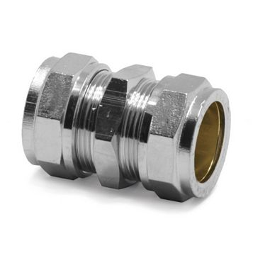 Pegler Compression Straight Coupler (Dia)22 mm