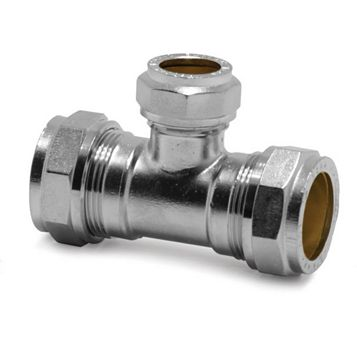 Pegler Compression Reducing Tee (Dia)22 mm