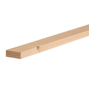 Softwood Smooth Planed Timber (L)3000mm (W)44mm (D)18mm, Pack of 1