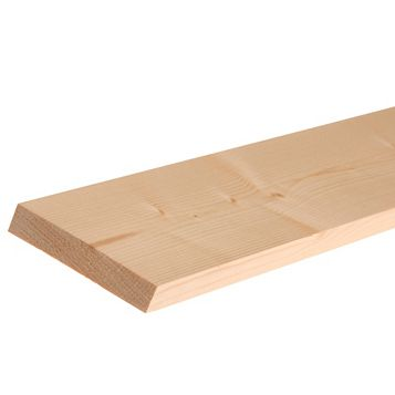 Softwood Smooth Planed Timber (L)3000mm (W)119mm (D)18mm, Pack of 1