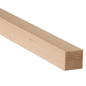 Softwood Smooth Planed Timber (L)2400mm (W)34mm (D)34mm, Pack of 4