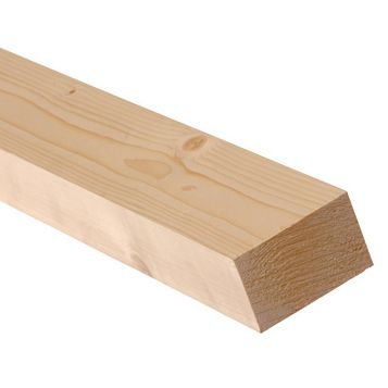Softwood Smooth Planed Timber (L)1800mm (W)70mm (D)34mm, Pack of 3